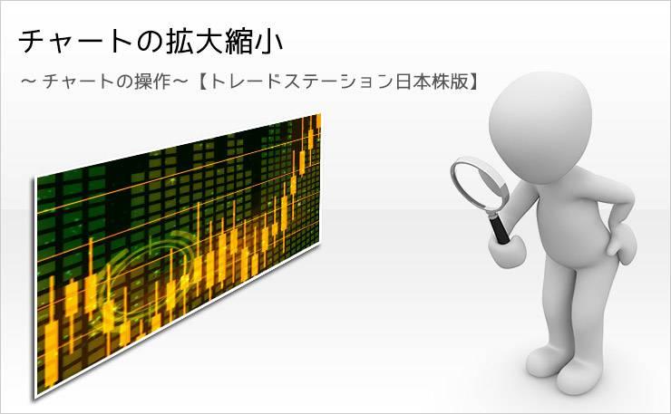 チャートの拡大縮小 ~チャートの操作~ 【トレードステーション日本株版】